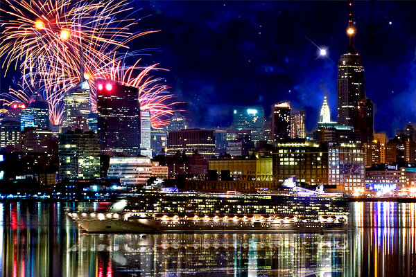 Как празднуют Новый год в США.