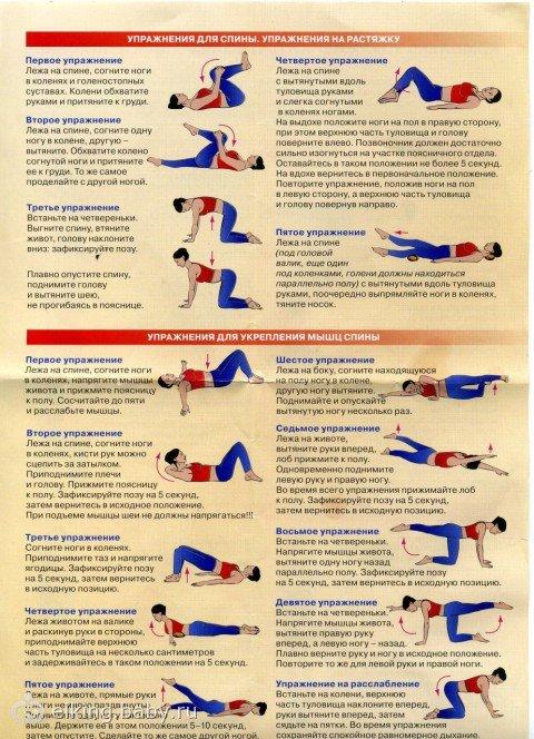 Упражнения для спины дома при остеохондрозе
