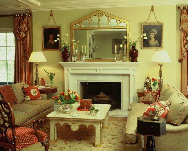 Английский стиль в интерьере гостиной засвидетельствует аристократизм и утонченность, надежность и разумный консерватизм, умение разбираться в жизни и проницательность.