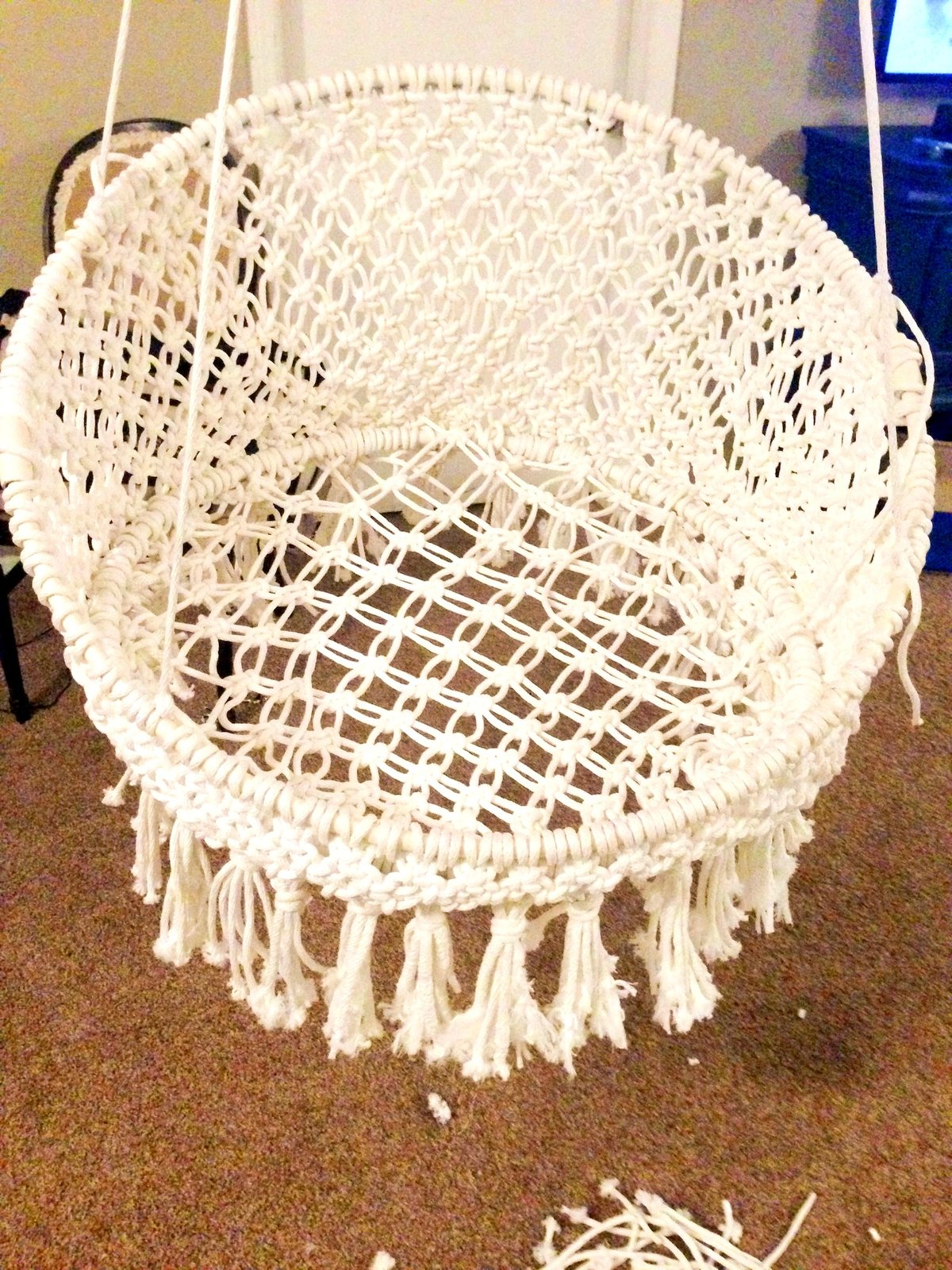 Bedroom Knockout Handmade Ooak Macrame Vintage Retro Style Hanging Majikhorse Hammock Chair Dbadccddefdec Instructions Hippy