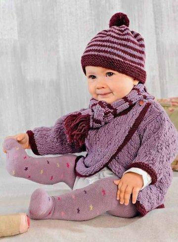 шарф и шапочка вязание спицами для детей от 0 до 3 лет с описанием