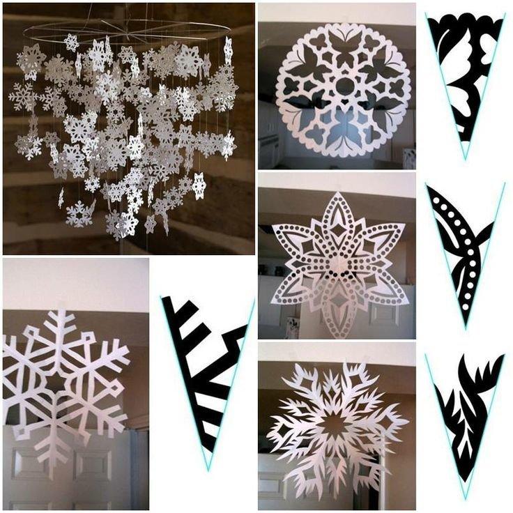 этой как вырезать красивые снежинки из бумаги фото сама