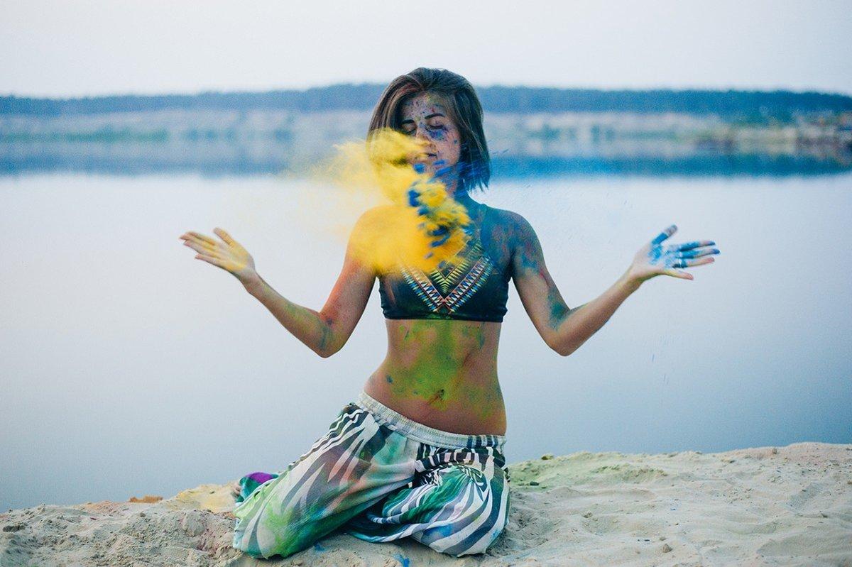 фотографии домашнего фотосессия с красками холи данной традиции