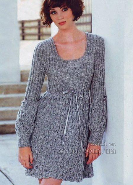 Вязание платье женское с описанием