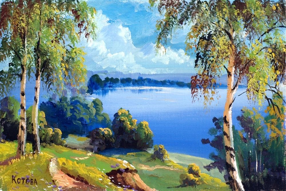 смотря пейзажи средней полосы россии рисунки подарку прилагается открытка
