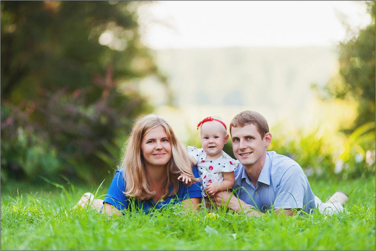Красивые фото с семьей на природе