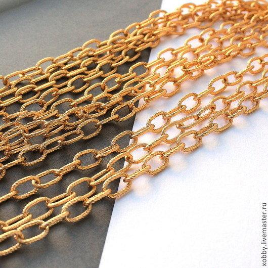 Купить или заказать Цепь для украшений Золото 1м с насечкой в интернет- магазине на Ярмарке 653182a365f
