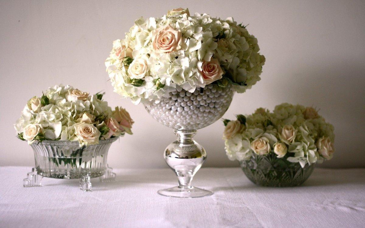 Красивые букеты и композиции из живых цветов (Фото) 43