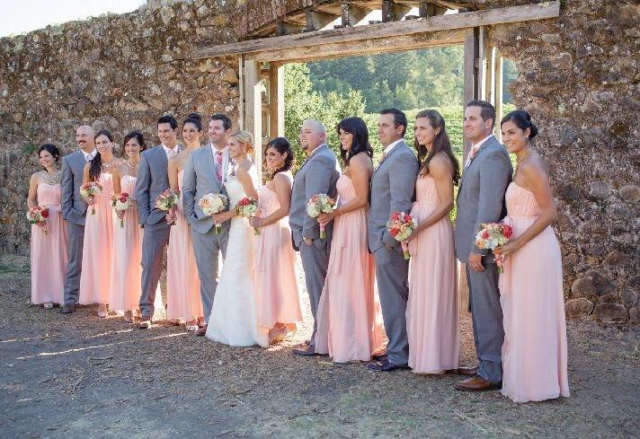 Свадьба в серо розовых тонах 19