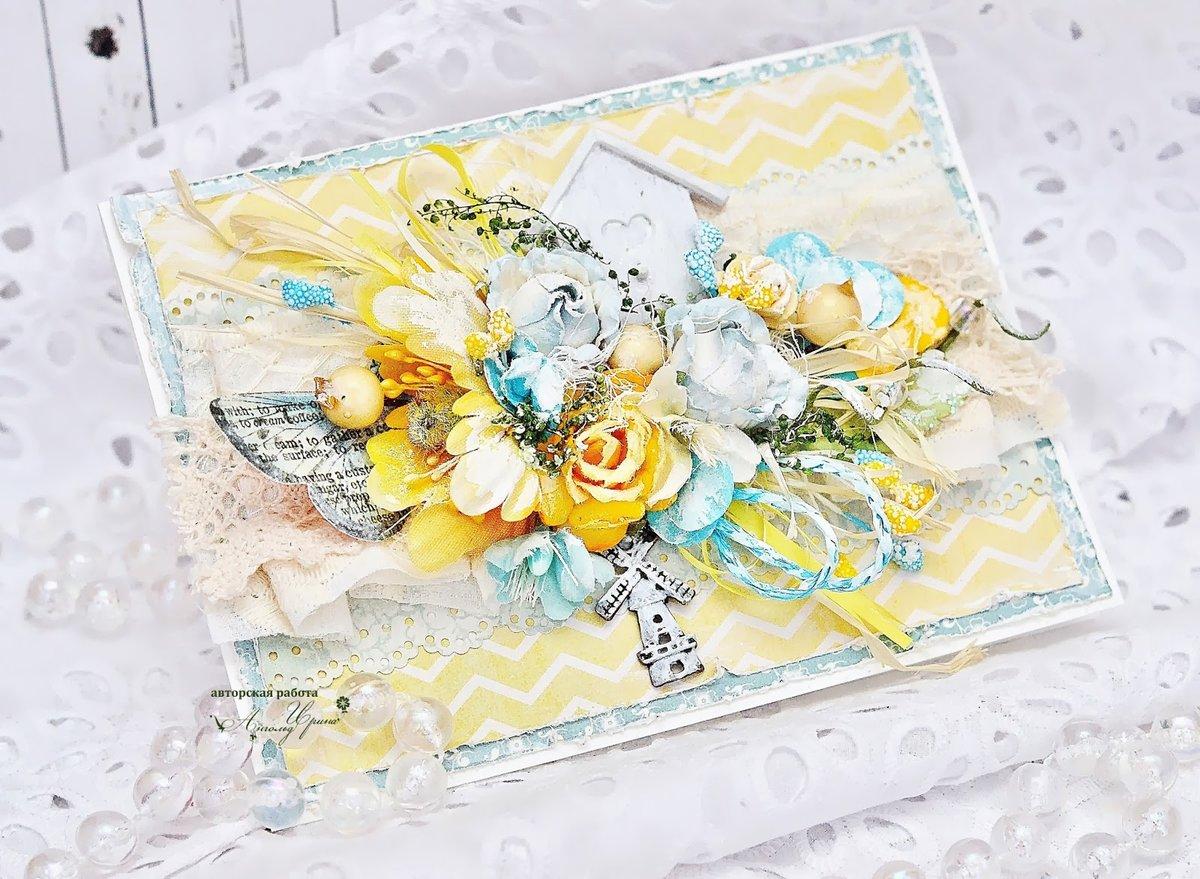 Картинку крестиком, скрапбукинг желтая открытка
