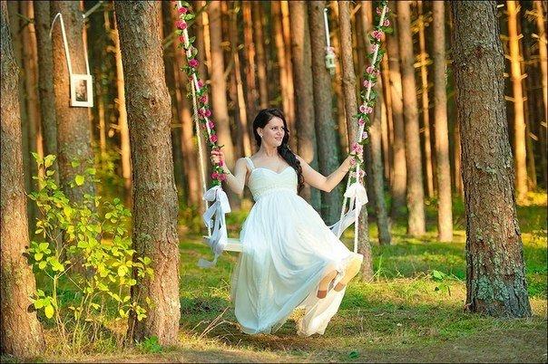 Романтическая свадьба в лесу