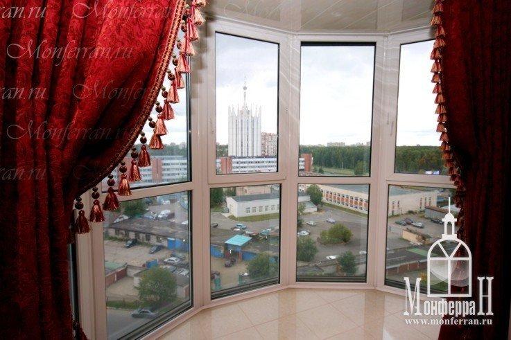 Фотографии остекления балкона от пола до потолка - так назыв.