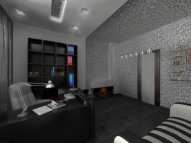 Искусство интерьера Современный дизайн кабинета