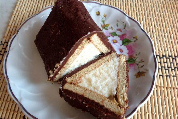 Рецепт торта из творога и печенья с фото