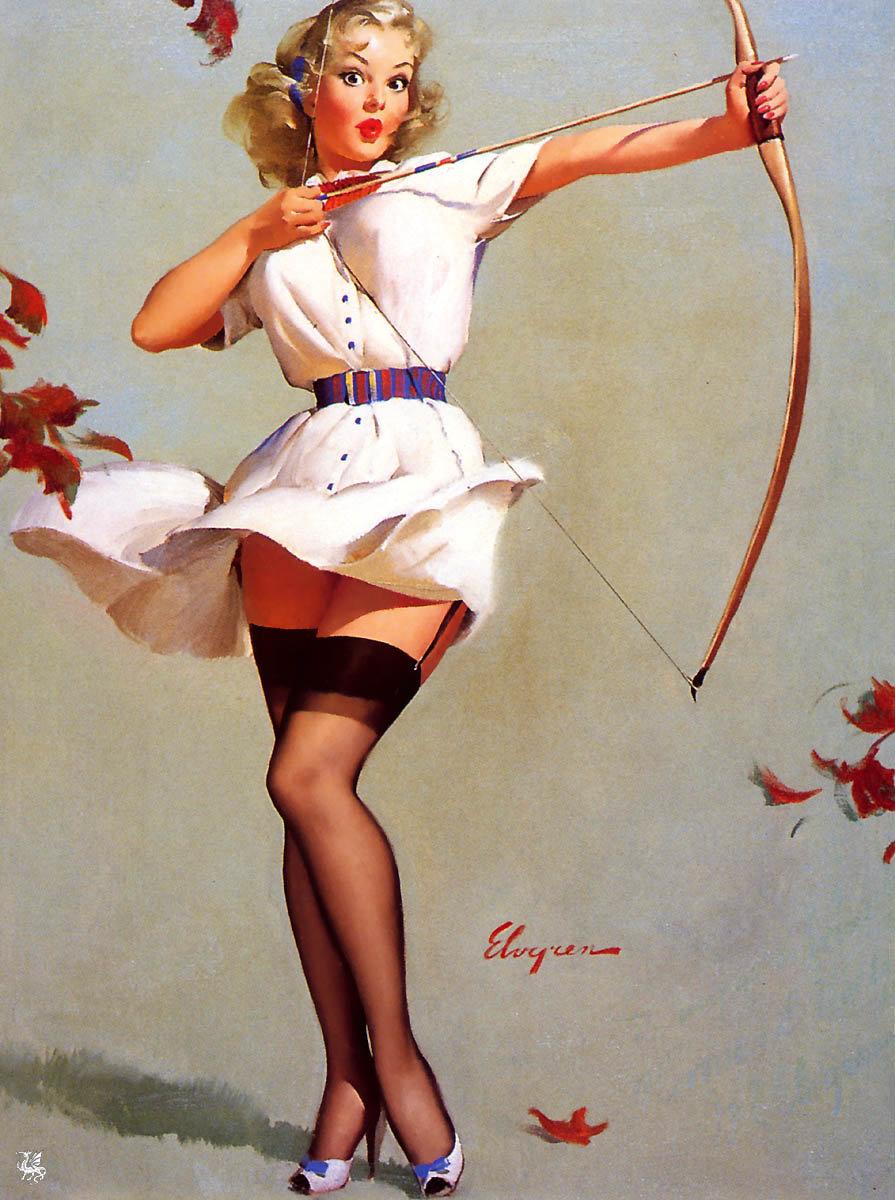 Рисованные девушки с открыток, открытка