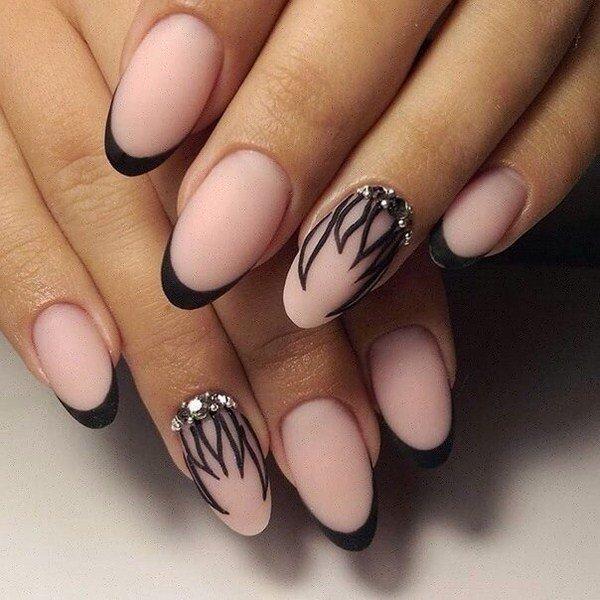 Дизайн фото длинные острые ногти