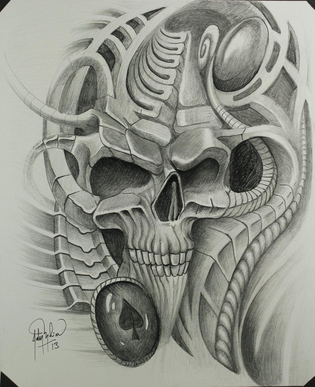 тату эскизы рисунки биомеханика стиль варадеро