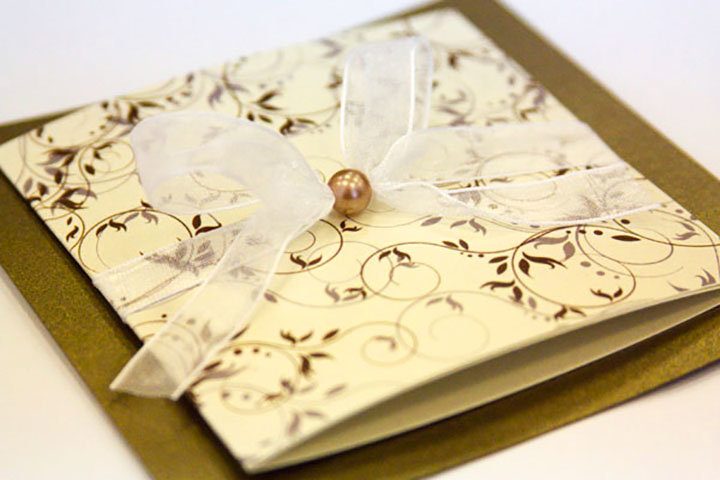 Оригинальные приглашение на свадьбу с открытки своими руками