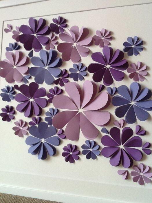 Объемные цветы своими руками шаблоны 469