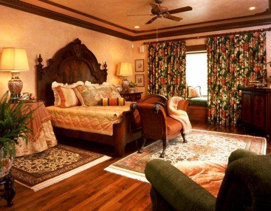 Смелое решение в выборе цветовых гамм в спальне