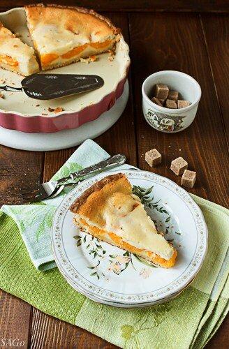рецепт с фото, творожная выпечка, творожный тарт с абрикосом