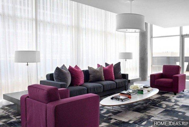 Серый цвет в интерьере и его сочетание с другими цветами фото