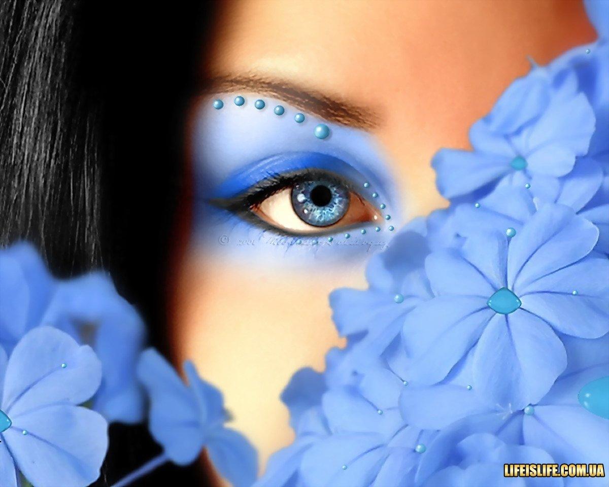 Днем, день голубых глаз открытка
