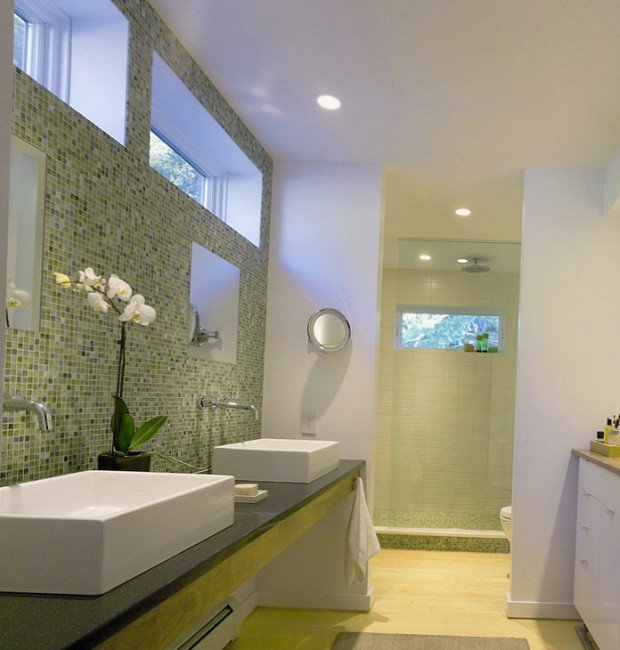 Мозайка в ванной комнате — отличное решение