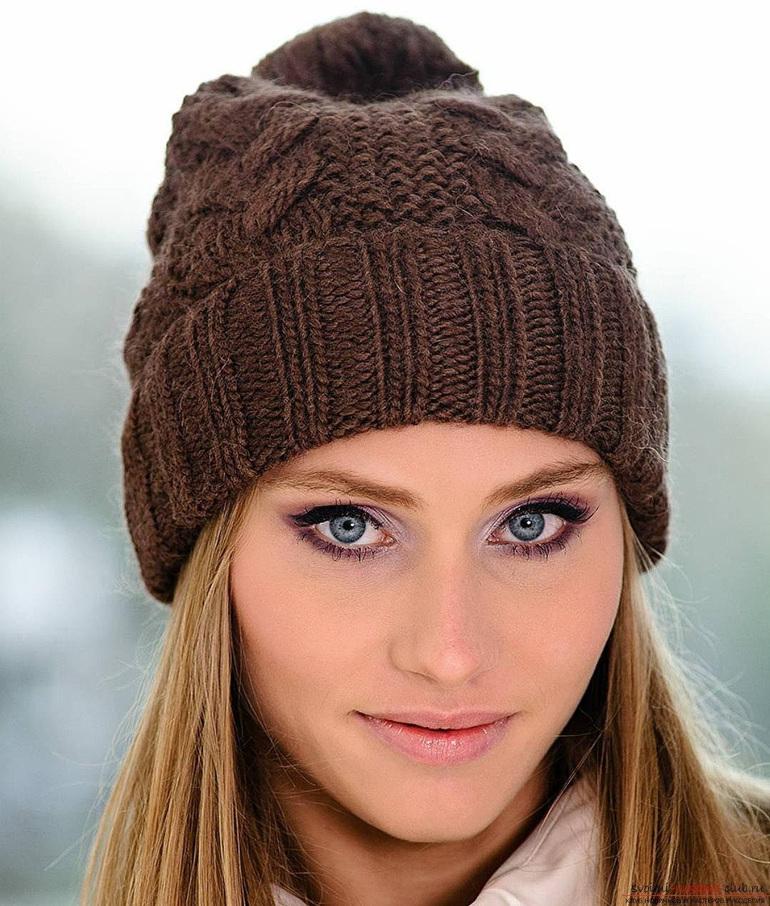 это шапка спицами для женщин силу того