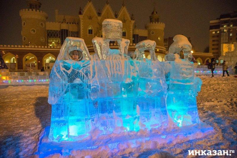 ледяной парк у театра кукол