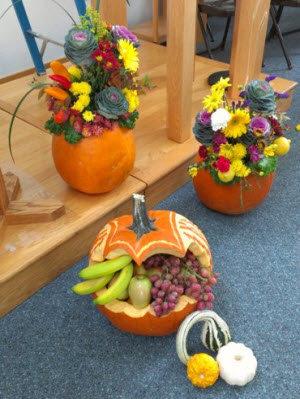 Осенние поделки из овощей и фруктов своими руками для детского фото 682