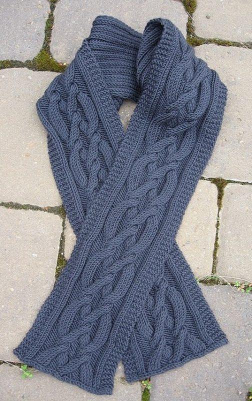 вязаные мужские шарфы спицами схемы