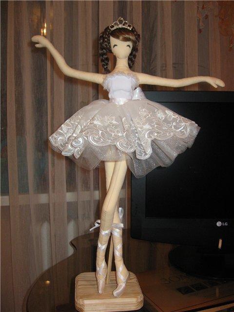 Выкройка кукла балерина своими руками