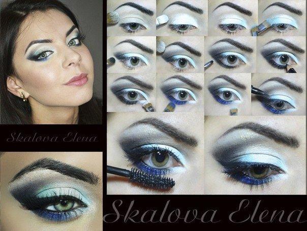 Как сделать правильный макияж для глаз, смотрите пошагово фото мастер классов.