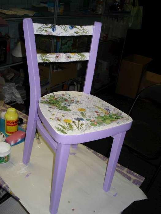 Декупаж стульев для начинающих пошагово 3