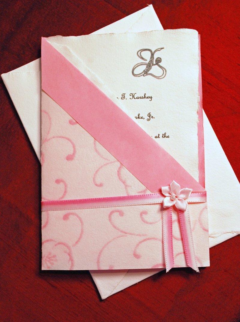 Свадебные приглашения-карманчики.