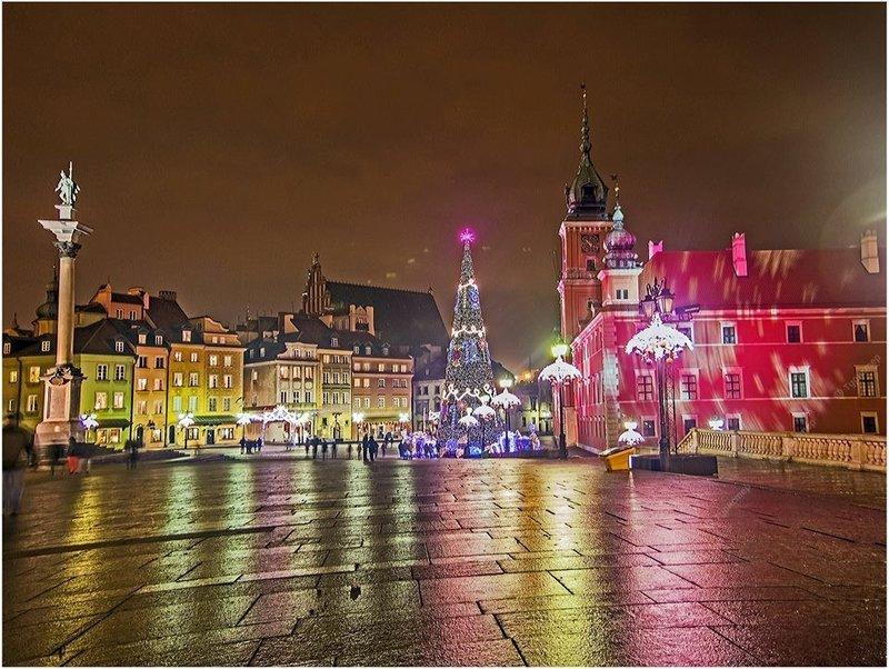 Новый Год и Рождество в сияющей Варшаве.