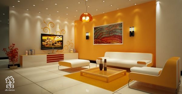 Дизайн проекты ярких гостиных комнат, фото