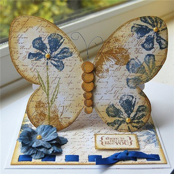 Открытки виде бабочки