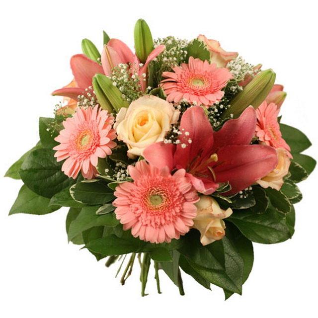 Открытки с лилиями и герберами, поздравления днем рождения