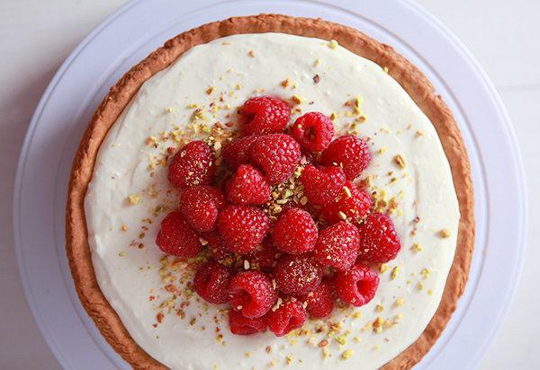 Кремовый тарт с малиной