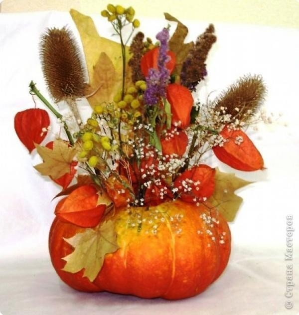 Осенняя икебана своими руками фото 149