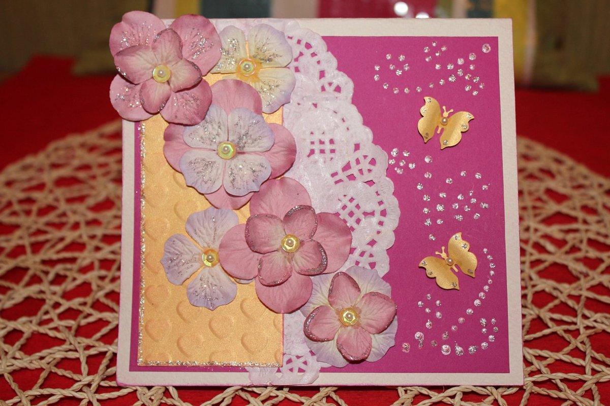 Ромашками бабочками, картинки разных открыток своими руками