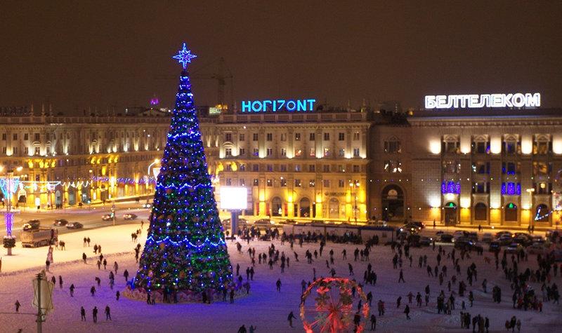 Новый год в Минске и Несвижском замке. Новый год на улицах Минска