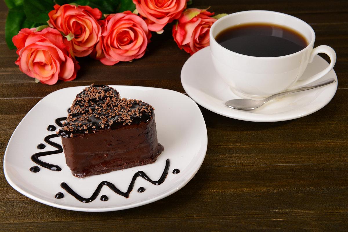 Надписью, открытки с кофе и тортом
