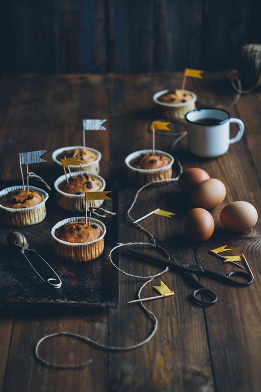Йогуртовые банановые маффины с шоколадными каплями