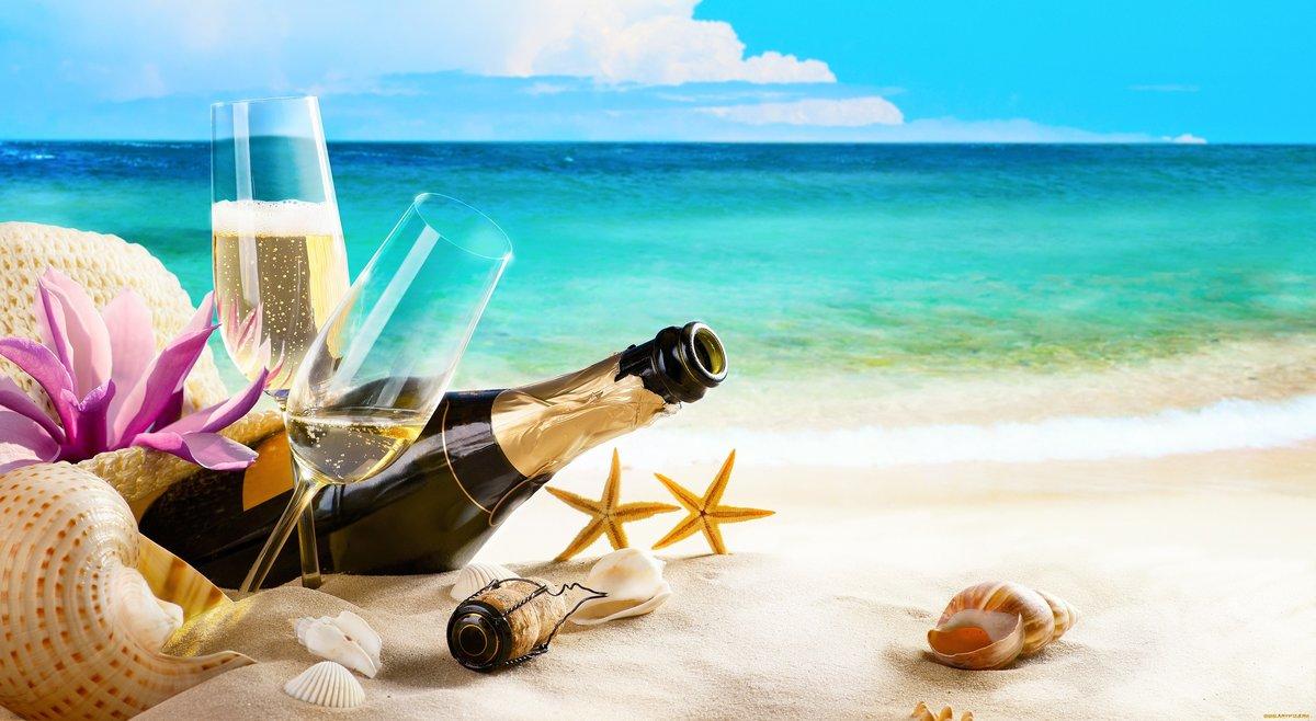 Рождеством христовым, открытки с морем и пляжем с днем рождения