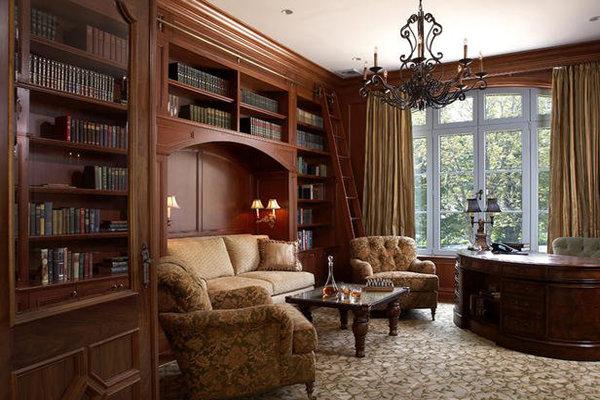 Интерьер кабинета интерьер в классическом стиле