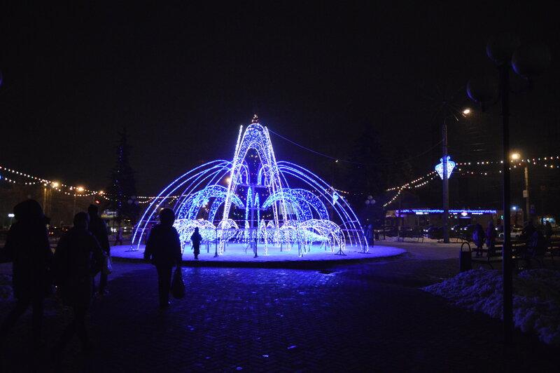 фонтан на новый год