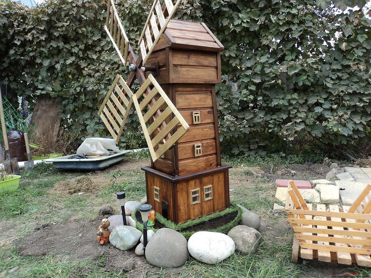 мельница на пне для сада фото материалы тускнеют
